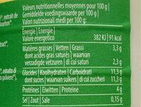 Laif fermenté Bio - vanille - Informations nutritionnelles - fr