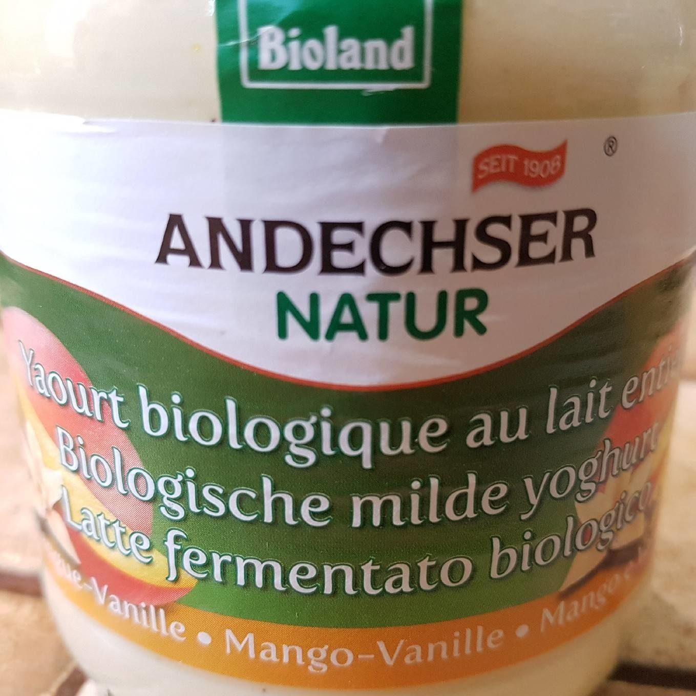 Yaourt Biologique au Lait Entier Mangue Vanille - Produkt