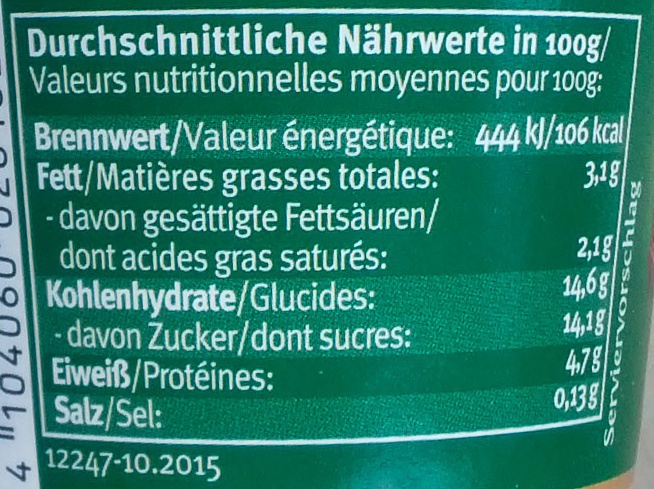 Bio-Kaffee - Nutrition facts