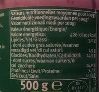 Myrtille-Cassis - Voedingswaarden - en