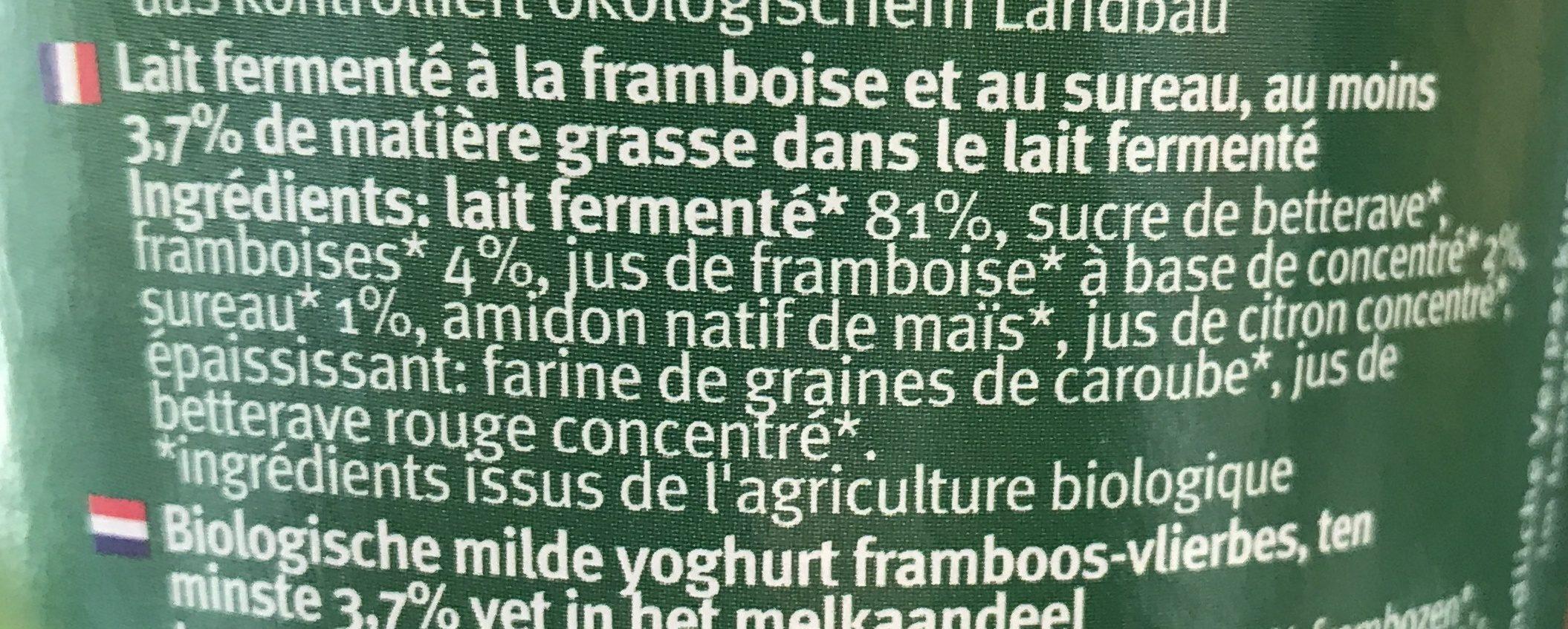 Bio jogurt mild - Ingredients - fr