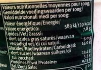 Yaourt Biologique au Lait Entier - Stracciatella - Informations nutritionnelles
