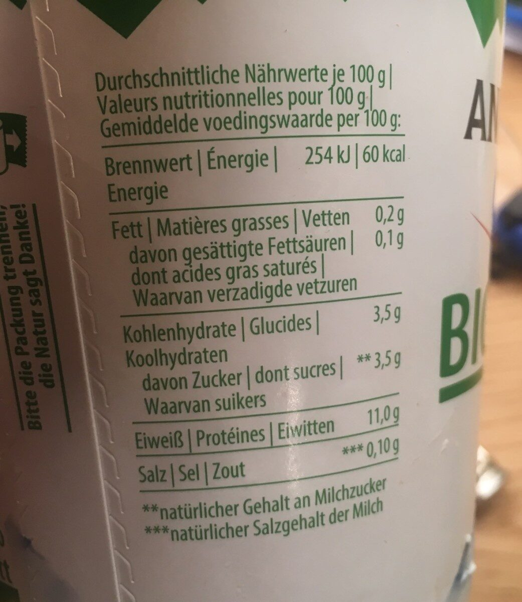 Bio Skyr - Nutrition facts