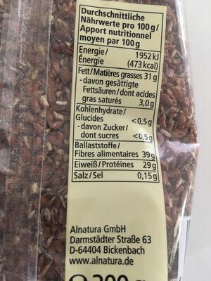 Graines de lin concassées - Ingredients