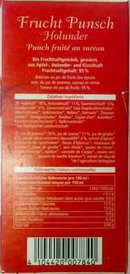 Frucht Punsch Holunder - 1