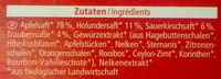 Frucht Punsch Holunder - Ingredients