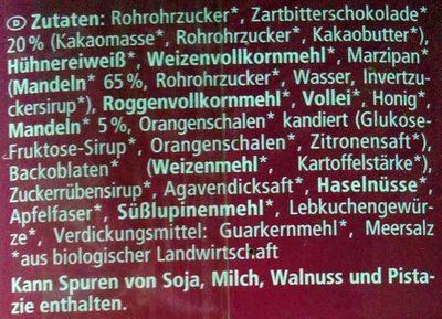 Mini Schoko Lebkuchen - Ingredienti - de