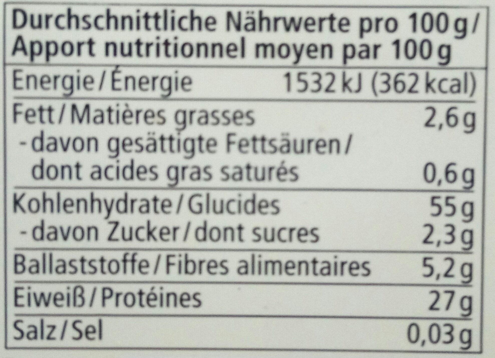 Rote Linsen - Voedingswaarden - de