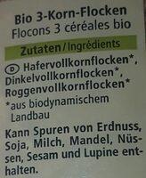 Flocons 3 céréales - Ingredienti - de