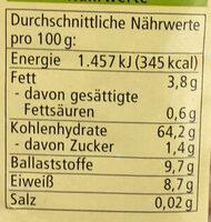 Popcorn Mais - Nutrition facts - de
