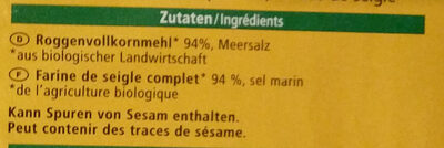 Knäcke-Brot - Inhaltsstoffe