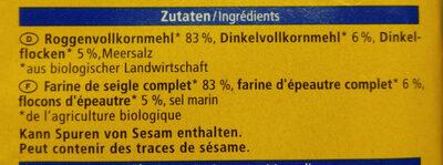 Knäcke-Brot - Ingredients