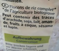 Reisflocken - Ingrediënten