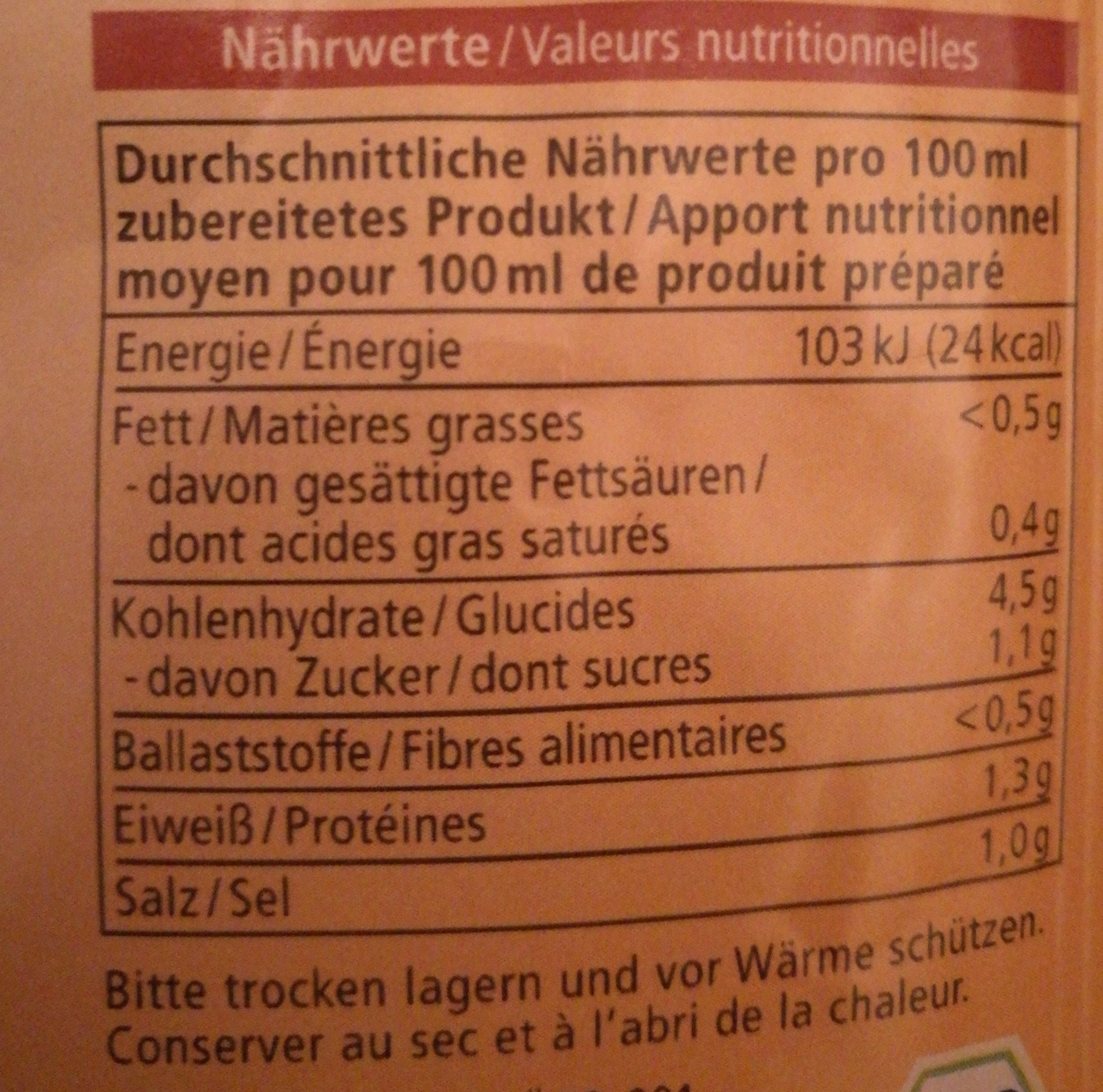 Pilz cremesuppe - Nutrition facts