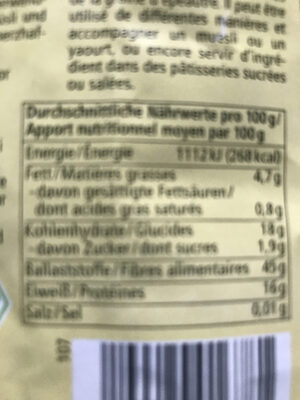 Dinkel Kleie - Nutrition facts