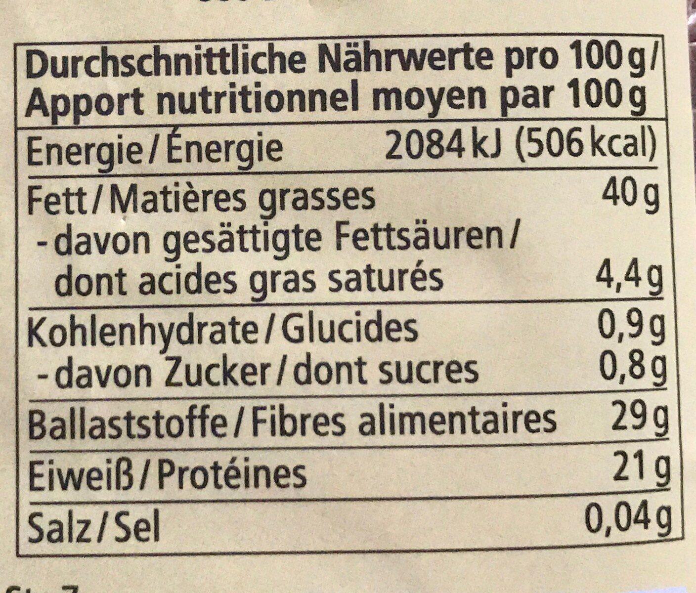 Leinsamen - Nährwertangaben - de