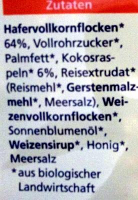 Hafer Crunchy - Ingredients