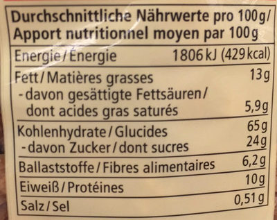 Dinkel  Crunchy - Alnatura - Nutrition facts