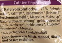 Hafer Crunchy Waldbeere - Ingredients
