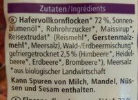 Waldbeere Hafer Crunchy - Ingredients - de