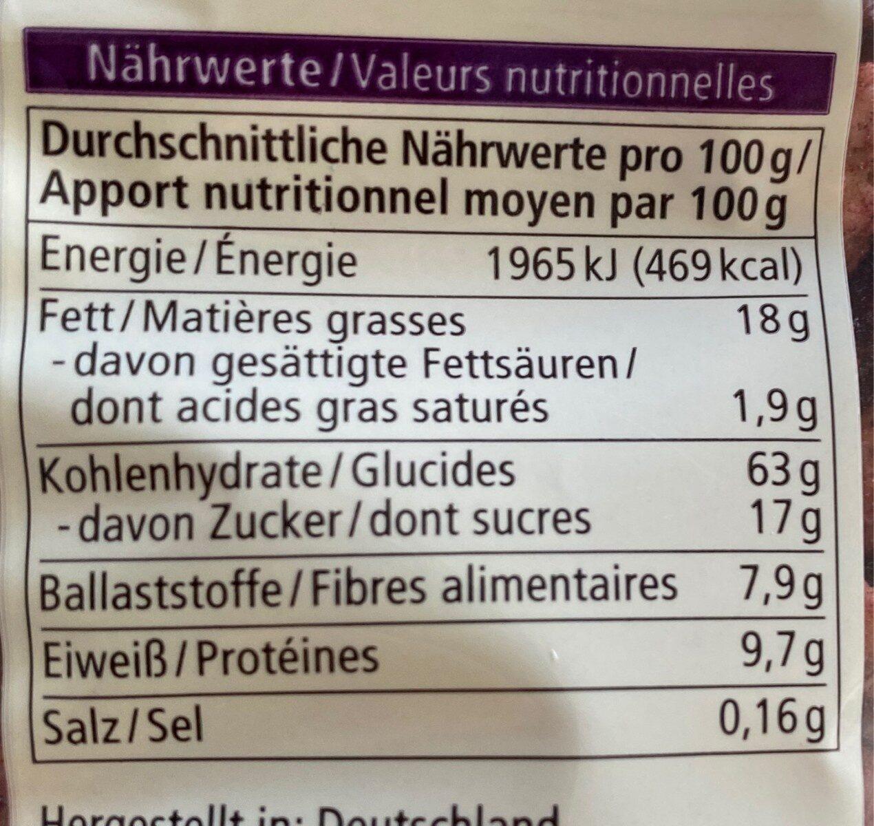 Waldbeere Hafer Crunchy - Nutrition facts - de