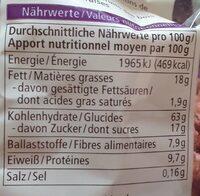 Waldbeere Hafer Crunchy - Informations nutritionnelles - fr