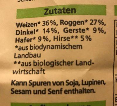 6 Korn Mischung - Ingredients - de