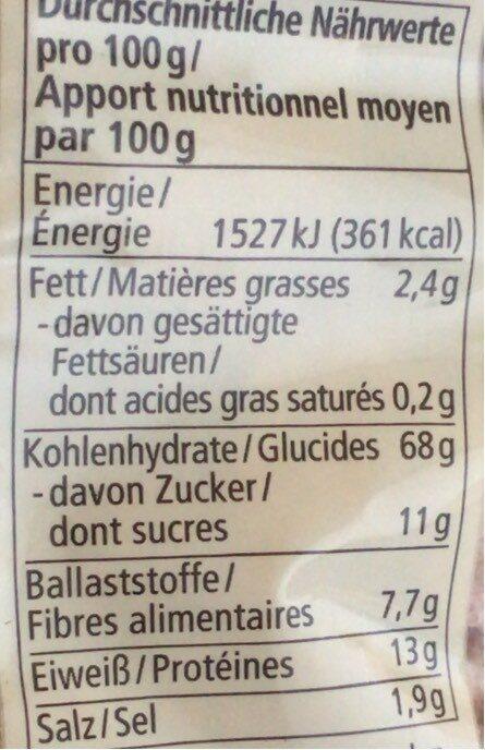 Dinkel Flakes - Informations nutritionnelles - fr