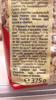 Ours croustillant - Ingrédients - fr