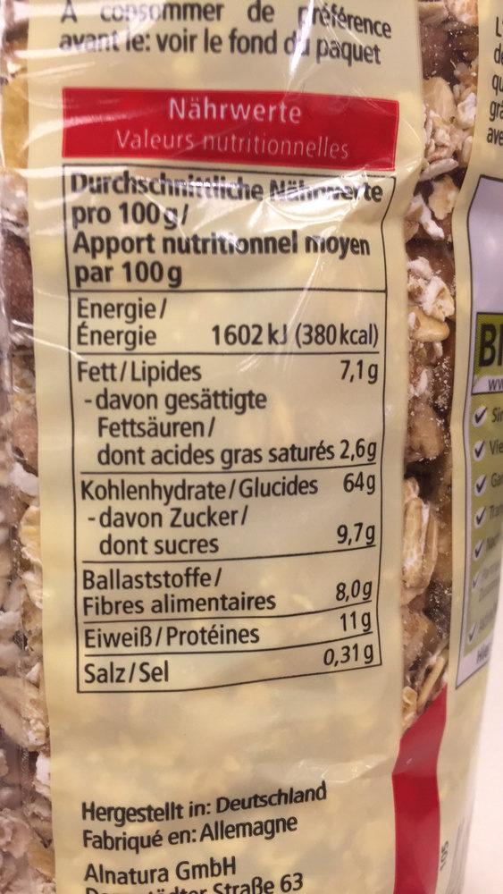 Ours croustillant - Informations nutritionnelles - fr