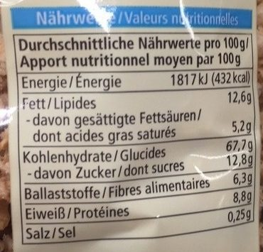 Crunchy Avoine Epeautre - Nutrition facts