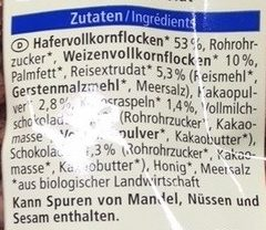 School Hafer Crunchy - Zutaten - de