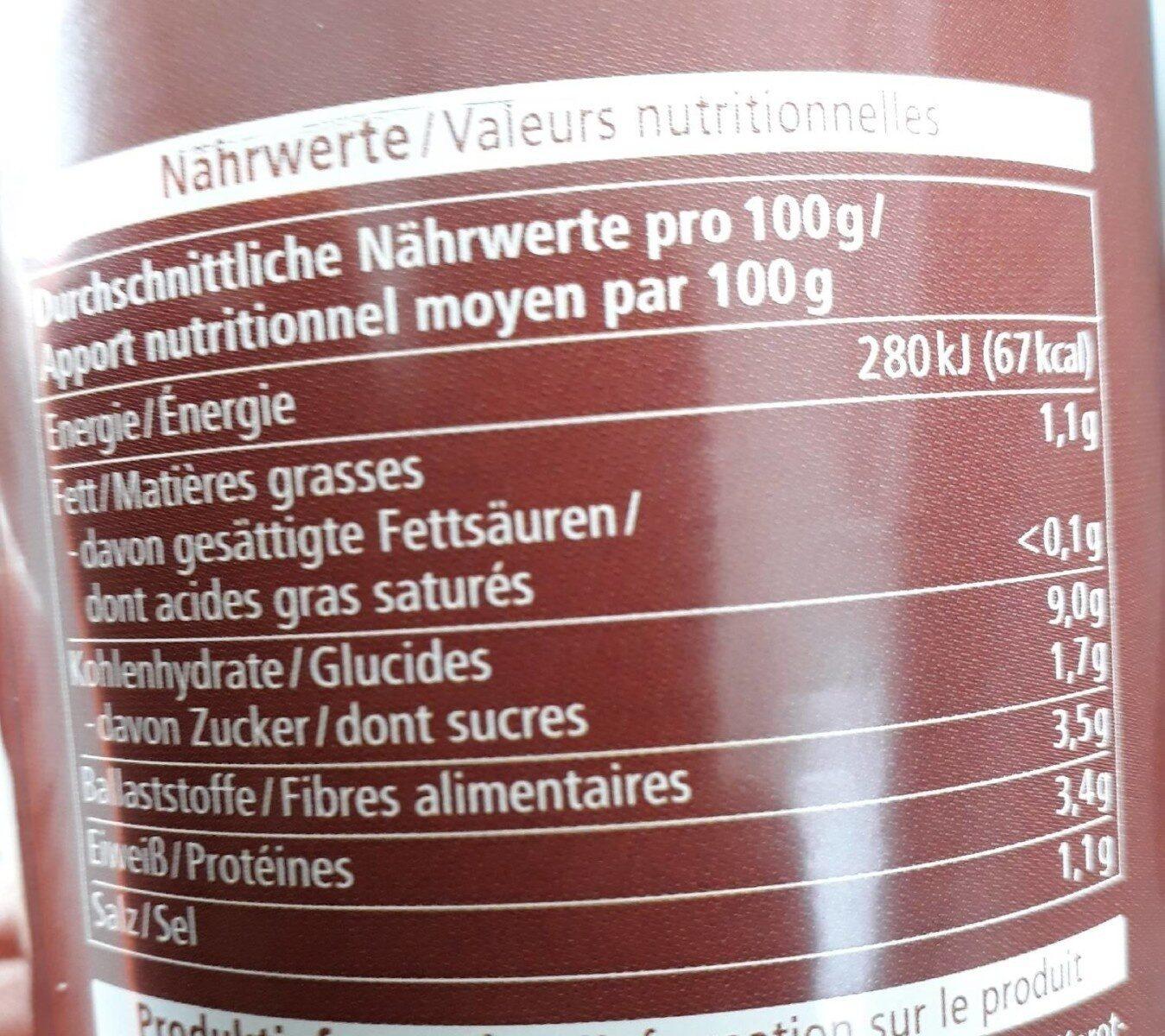 Linseneintopf - Informations nutritionnelles - de