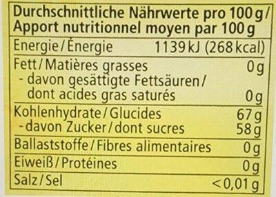 Ahornsirup Grad C - Informazioni nutrizionali - de