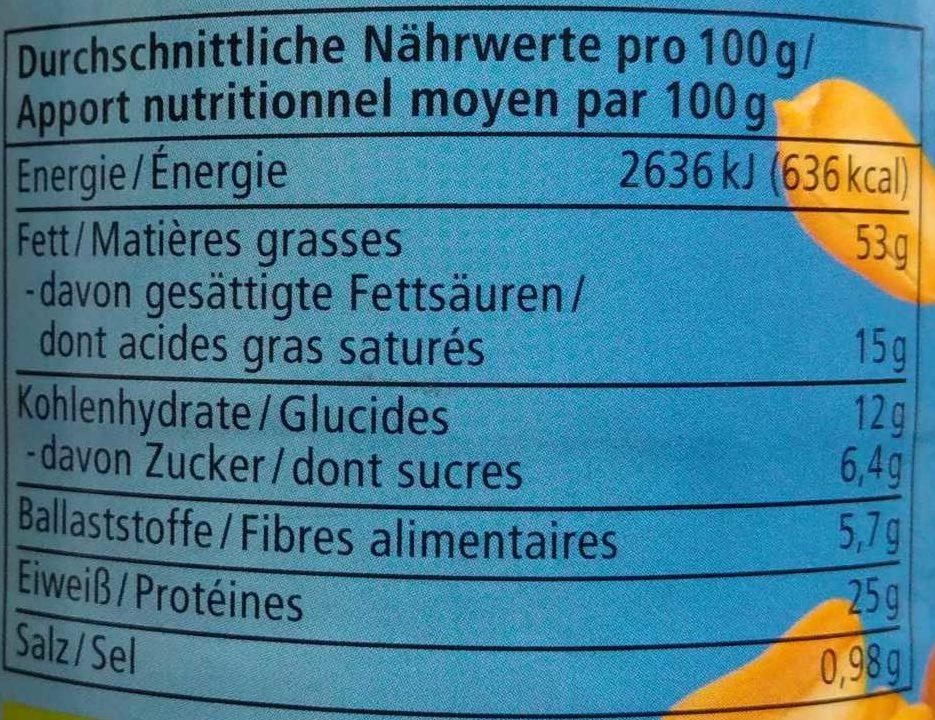 Erdnuss Creme - Informations nutritionnelles - de