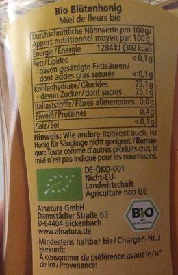 Miel de fleurs - Ingrédients - fr