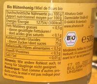 Miel Bio Fine Fleur - Ingredients - fr
