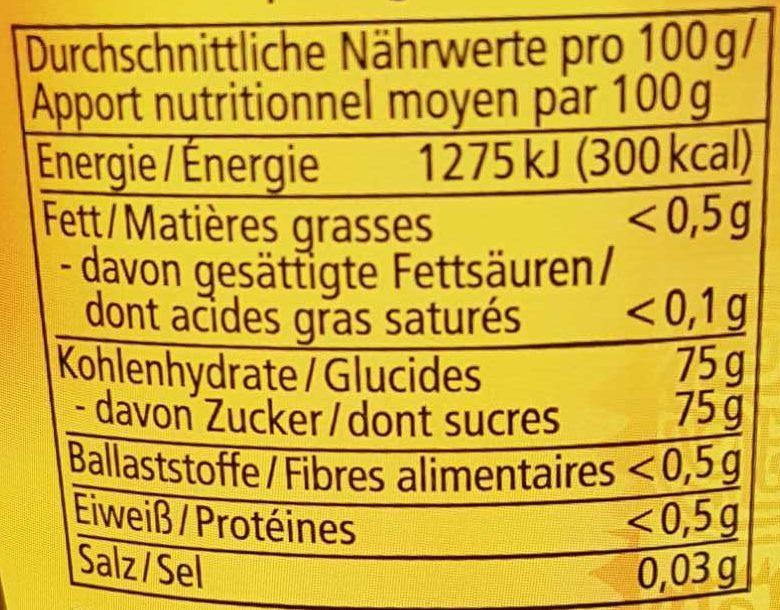 Agaven Dicksaft Alnatura - Nutrition facts