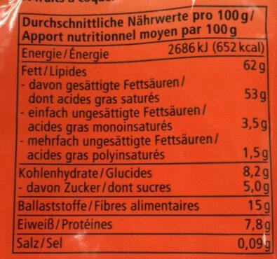 Kokos Chips - Informazioni nutrizionali - de