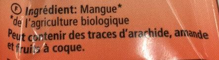 Morceaux De Mangue Paquet Fraîcheur - Ingrediënten - fr