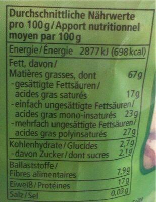 Paranuss Kerne - Nutrition facts - fr