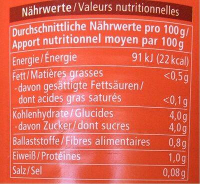 Tomates entières pelées - Nutrition facts - de