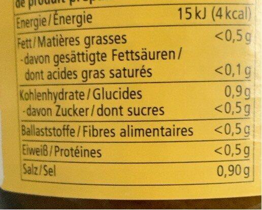 Hühner Bouillon - Informations nutritionnelles - fr