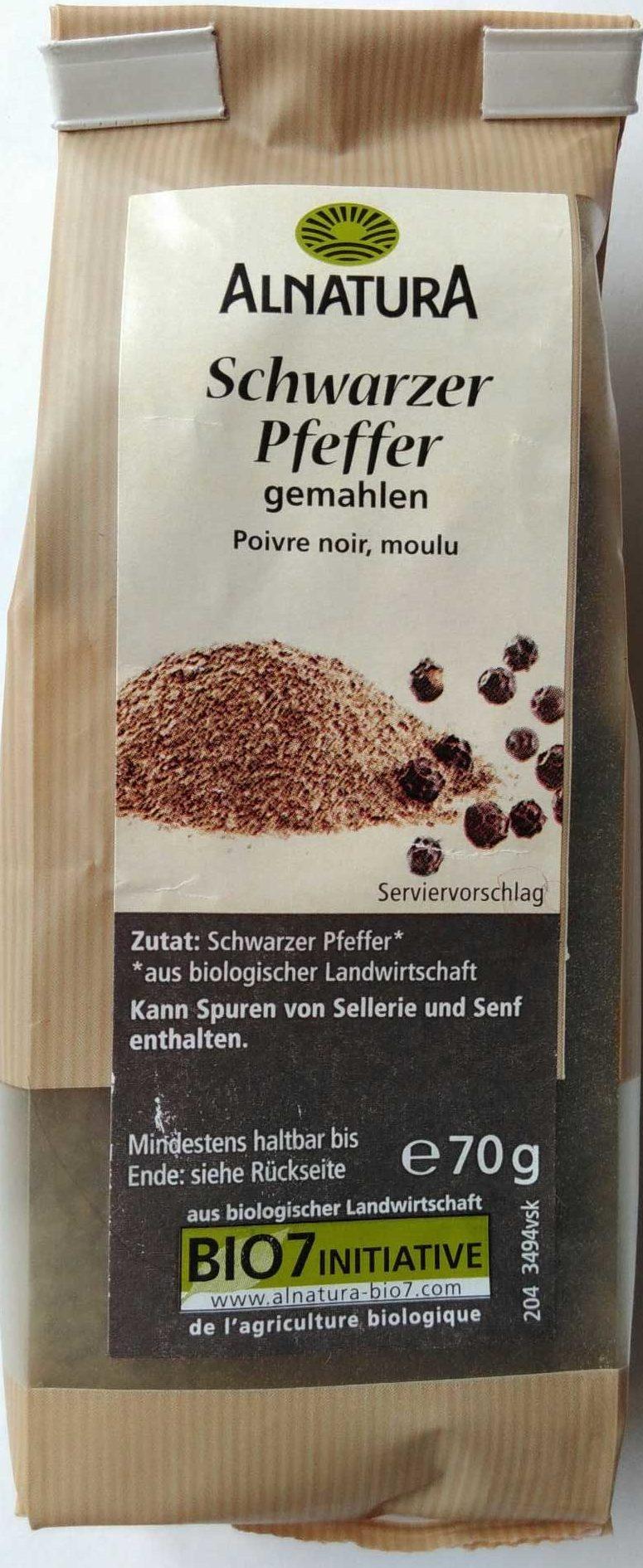 Schwarzer Pfeffer gemahlen - Product - de