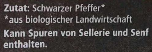 Schwarzer Pfeffer gemahlen - Ingredients - de