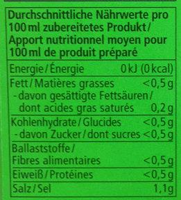 Gemüse Bouillon - Nutrition facts