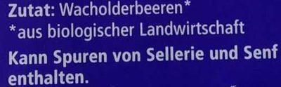 Wacholder Beeren ganz - Ingredients - de