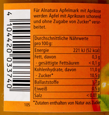 Apfelmark mit Aprikose - 1