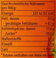 Apfelmark mit Aprikose - Nährwertangaben - de