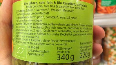 Erbsen & Mören - Inhaltsstoffe - fr